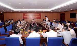 Ban Chỉ đạo Trung ương về phòng, chống tham nhũng làm việc với Ban Cán sự Đảng Bộ Tài chính