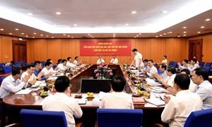 Tiểu ban Văn kiện Đại hội XIII của Đảng làm việc với Ban Cán sự Đảng Bộ Tài chính