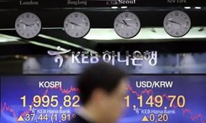Giá trị cổ phiếu của 100 người giàu nhất sàn chứng khoán Hàn Quốc giảm gần 8%