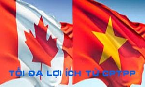 Việt Nam-Canada thúc đẩy hợp tác, tận dụng tối đa lợi ích từ CPTPP