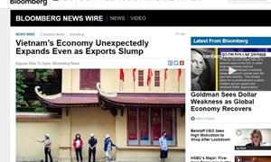 Bloomberg: Kinh tế Việt Nam tăng trưởng vượt ngoài dự báo