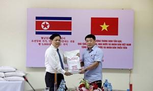 5 nghìn tấn gạo hỗ trợ nhân dân Triều Tiên khắc phục hậu quả thiên tai