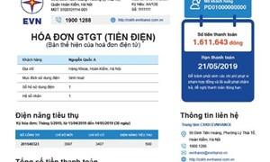 Mẫu hoá đơn tiền điện mới - EVN tiếp thu ý kiến khách hàng