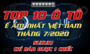[Infographics] TOP 10 ô tô ế ẩm nhất Việt Nam tháng 7/2020: Suzuki Celerio chỉ bán được một chiếc
