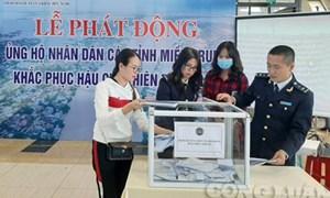 Hải quan cửa khẩu Hữu Nghị phát động quyên góp ủng hộ đồng bào miền Trung
