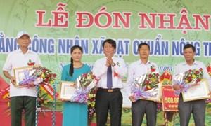 Nghĩa Hồng đón bằng công nhận xã đạt chuẩn Nông thôn mới