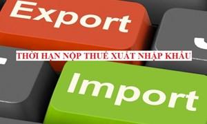 Thời hạn nộp thuế đối với hàng hóa xuất khẩu, nhập khẩu được thực hiện ra sao?
