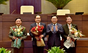 Quốc hội biểu quyết bầu các Phó Chủ tịch Quốc hội Khóa XIV