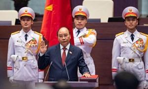 Với tỷ lệ tán thành tuyệt đối, ông Nguyễn Xuân Phúc đắc cử Chủ tịch nước nhiệm kỳ 2021-2026