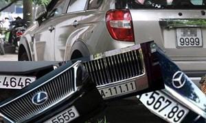 Đề xuất đấu giá trực tuyến và cấp biển số xe theo yêu cầu