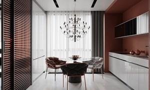 Thiết kế nhà đẹp theo phong cách Nhật Bản với nội thất màu đỏ và xám