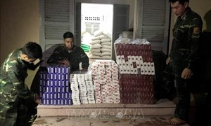 Mật phục thu giữ gần 2.500 gói thuốc lá điếu ngoại nhập lậu qua biên giới
