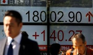 Chứng khoán châu Á lên cao nhất hơn 6 tuần
