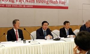 Phó Thủ tướng Vương Đình Huệ làm việc với Hiệp hội Tài chính KOFIA Hàn Quốc