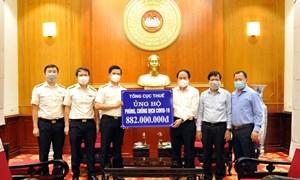 Tổng cục Thuế trao tặng trên 880 triệu đồng ủng hộ các tỉnh, thành phố phía Nam phòng, chống dịch