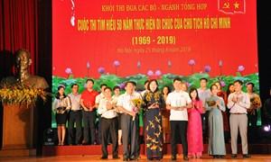 Bộ Tài chính vinh dự nhận giải Ba cuộc thi Tìm hiểu 50 năm thực hiện Di chúc của Chủ tịch Hồ Chí Minh