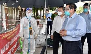 Thủ tướng Chính phủ kiểm tra đột xuất công tác phòng chống dịch tại Hà Nội