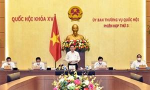 Ủy ban Thường vụ Quốc hội bế mạc Phiên họp thường kỳ thứ 3
