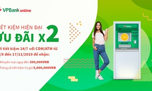 VPBank tặng ngay 300.000 VNĐ cho khách hàng gửi tiết kiệm trực tuyến