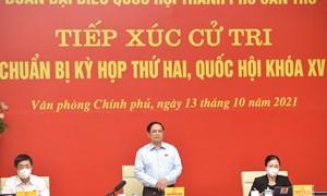 Thủ tướng Chính phủ Phạm Minh Chính tiếp xúc cử tri trước Kỳ họp thứ hai, Quốc hội khoá XV