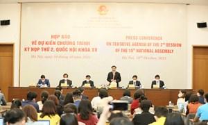 Kỳ họp thứ 2, Quốc hội khóa XV sẽ chính thức khai mạc vào sáng ngày 20/10