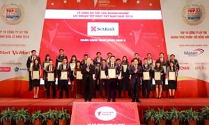 SeABank xếp hạng trong nhóm 90 doanh nghiệp tư nhân lợi nhuận tốt nhất Việt Nam