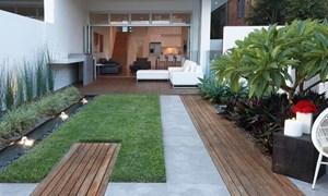 Cách thiết kế sân vườn cho nhà ống