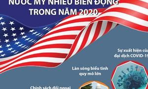[Infographics] Nước Mỹ nhiều biến động trong năm 2020