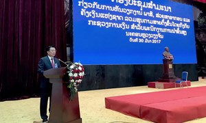 Hội thảo cấp cao về quản lý ngành dọc Thuế - Hải quan - Kho bạc của Bộ Tài chính Lào