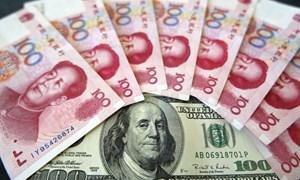 Nhân dân tệ giảm mạnh so với đồng USD, thấp kỷ lục so với rổ tiền tệ