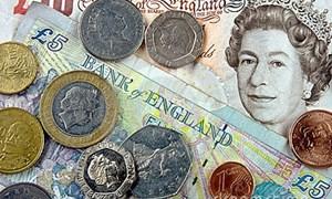 Đồng Bảng Anh xuống gần mức thấp nhất trong 7 tháng