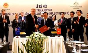 Ký biên bản ghi nhớ hợp tác giữa Bộ Tài chính Việt Nam và Bộ Ngân khố Úc