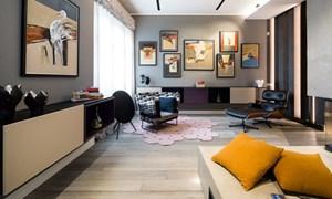 Ấn tượng với căn hộ kết hợp màu sắc trắng đen