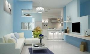 Cách phối màu kết hợp thiết kế nội thất phòng khách sang trọng