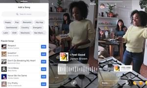 Facebook thử tính năng chèn nhạc vào ảnh và video