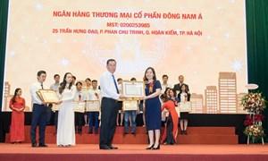 """SeABank được Bộ Tài chính trao tặng bằng khen """"Thực hiện tốt chính sách, pháp luật thuế năm 2017"""""""