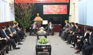 Thứ trưởng thường trực Bộ Tài chính Nguyễn Công Nghiệp thăm, làm việc tại Lạng Sơn
