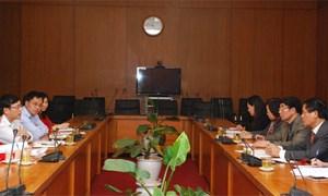Ủy ban Chứng khoán Nhà nước làm việc với Hội Kiểm toán viên hành nghề Việt Nam