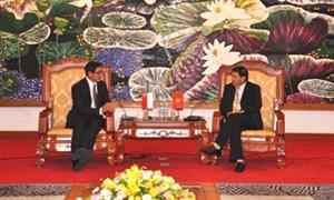 Thứ trưởng Bộ Tài chính Trương Chí Trung tiếp Đại sứ Singapore tại Việt Nam