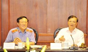 Bộ trưởng Đinh Tiến Dũng làm việc với Viện Kiểm sát Nhân dân tối cao