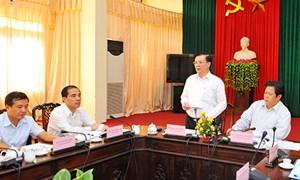 Bộ Tài chính làm việc với tỉnh Tuyên Quang và Phú Thọ