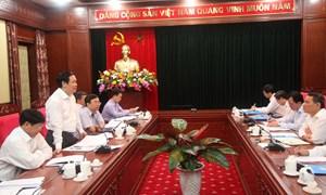 Trưởng Ban Kinh tế Trung ương làm việc với Tỉnh uỷ Sơn La  về thực hiện Tam nông