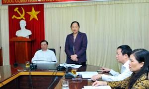 Bộ trưởng Bộ Tài chính Đinh Tiến Dũng thăm và làm việc tại tỉnh Điện Biên
