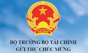 Bộ trưởng Bộ Tài chính Đinh Tiến Dũng gửi thư chúc mừng Tạp chí Tài chính