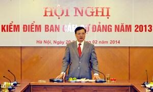 Ban Cán sự Đảng Bộ Tài chính họp kiểm điểm theo Nghị quyết Trung ương 4