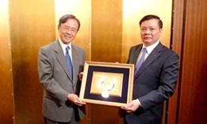 Bộ trưởng Bộ Tài chính Đinh Tiến Dũng làm việc với lãnh đạo Sumitomo Life tại Nhật Bản