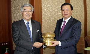 Bộ trưởng Đinh Tiến Dũng thăm và làm việc tại Tập đoàn Sở Giao dịch Chứng khoán Nhật Bản