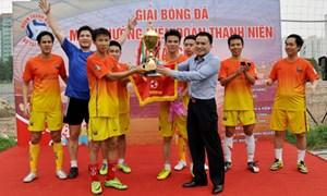 Bế mạc giải bóng đá mini thường niên Đoàn thanh niên Bộ Tài chính năm 2014