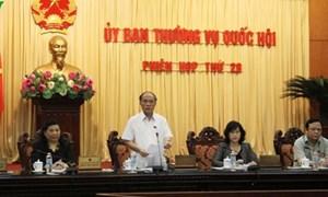 Thường vụ Quốc hội cho ý kiến về tình hình phát triển kinh tế - xã hội và ngân sách nhà nước năm 2013 và 4 tháng đầu năm