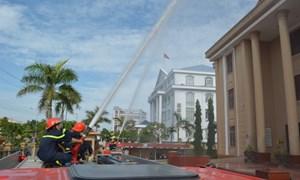 Kho bạc Nhà nước tỉnh Bạc Liêu thực tập phương án chữa cháy